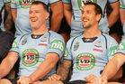 Paul Gallen and Mitchell Pearce with New South Wales. Photo / Getty