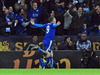 Leicester's Jamie Vardy celebrates after scoring against Liverpool. Photo / Ap