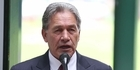 Winston Peters discusses TPP protests