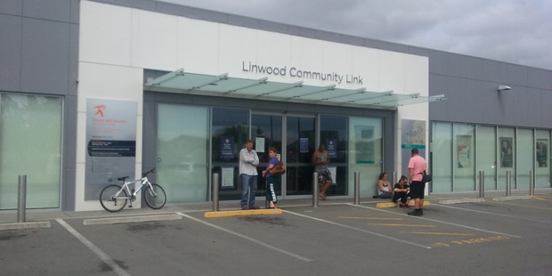 A staff member at a WINZ Christchurch branch said all the branches had been locked down. Photo / Kurt Bayer