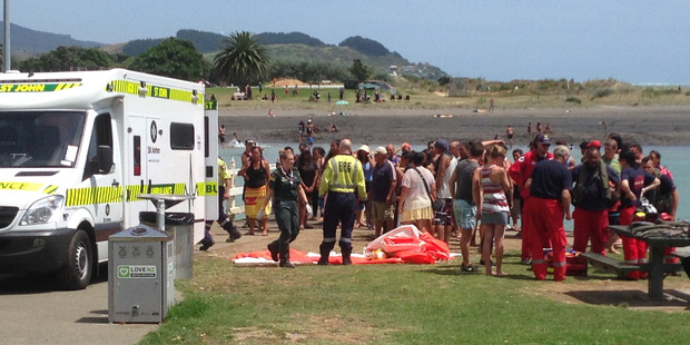 Ambulance crews worked on the teen for up to an hour but he could not be saved. Photo / Belinda Feek