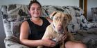 Relieved to home: Stephanie Bergonia-Ward with her dog Kitarah. Photo / Jason Oxenham
