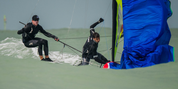 2016 Nacra 17, 49er and 49erFX World Championships in Clearwater, Florida. Photo / Jen Edney