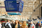 Travelers at the London Waterloo station in London. Photo / iStock