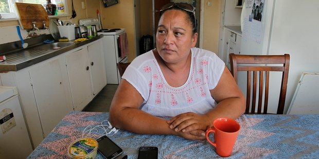 Katrina Terry is afraid her family will be made homeless because the Housing New Zealand home she is currently living in was tenanted to her mother, who died. Photo / John Borren
