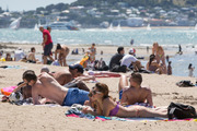Auckland sizzles in the heat. New Zealand's blistering summer comes to an end today. Photo / Greg Bowker