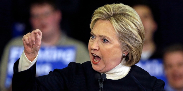 Democratic presidential hopeful  Hillary Clinton has presented herself as an advocate for women's rights, as well as the woman who can open a new door for every little girl. Photo / AP