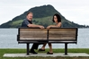 Karen Ellis and Tauranga City councillor Bill Grainger are testing public opinion on putting a donation box on Mauao. Photo / George Novak