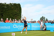 Lydia Ko of New Zealand tees off on the 17th hole during the 2nd round of the New Zealand Women's Open at Clearwater Golf Club. Photo / Getty