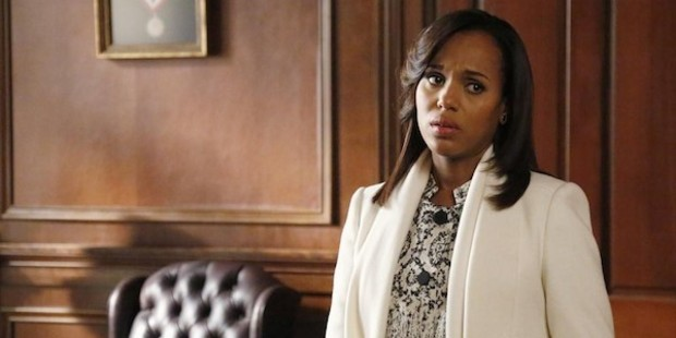 Actress Kerry Washington in a scene from Scandal.