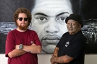 Owen Dippie (left)  and Tame Iti have collaborated on the Ko Koe Ko Au (You and I) exhibition. Photo / Brett Phibbs