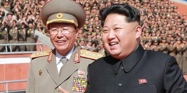 Kim Jong Un with his military chief Ri Yong Gil. Photo / AFP