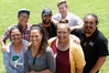 Ligi Johnstone (left), Ant Backhouse, Jaycee Maunsell-McMenamin, Phoenix Ruka, Marcia Hopa, Damien Clark and Joby Hopa.