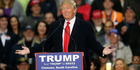 Republican presidential candidate Donald Trump speaks during a rally at Clemson University. AP photo / John Bazemore