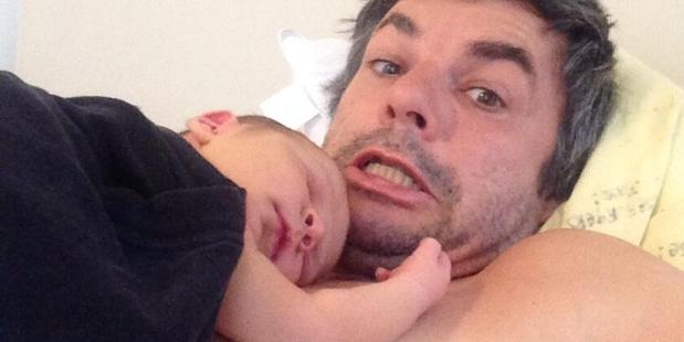 Marcus Lush with his oldest son Tracker. He named his new son Denver after watching a rerun of American Ninja Warrior.