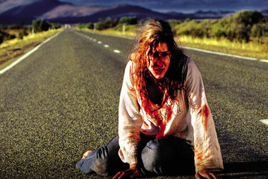 A scene from Australian horror flick Wolf Creek, which was inspired by real-life backpacker killer Ivan Milat. Photo / Supplied
