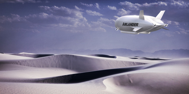 The Airlander can land on deserts, ice and water. Photo / Supplied