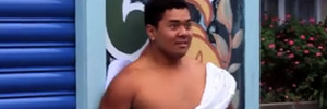 Junior New Zealand Weightlifting Champion Montel Tivoli features in the clip from Rutherford College, filmed to promote Valentine's Day. Photo / Facebook