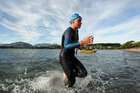 Sophie Corbidge leaves the water during the Contact Triathlon Cup on January 14. Photo / Getty Images
