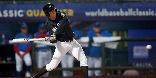 Max Brown playing for the New Zealand Diamondblacks. Photo / Getty Images