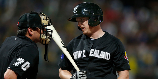 Alan Schoenbergerof Team New Zealand in the World Baseball Classic. Photo / Getty Images