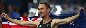 Nick Willis of New Zealand celebrates after the Men's 1500 metres final at the Glasgow 2014 Commonwealth Games. Photo / Getty Images