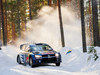 Andreas Mikkelsen of Norway and his co-driver Ola Floene during Rally Sweden. Photo / Getty Images