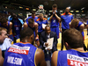 Joey Wright of the 36ers speaks to his team. Photo / Getty Images