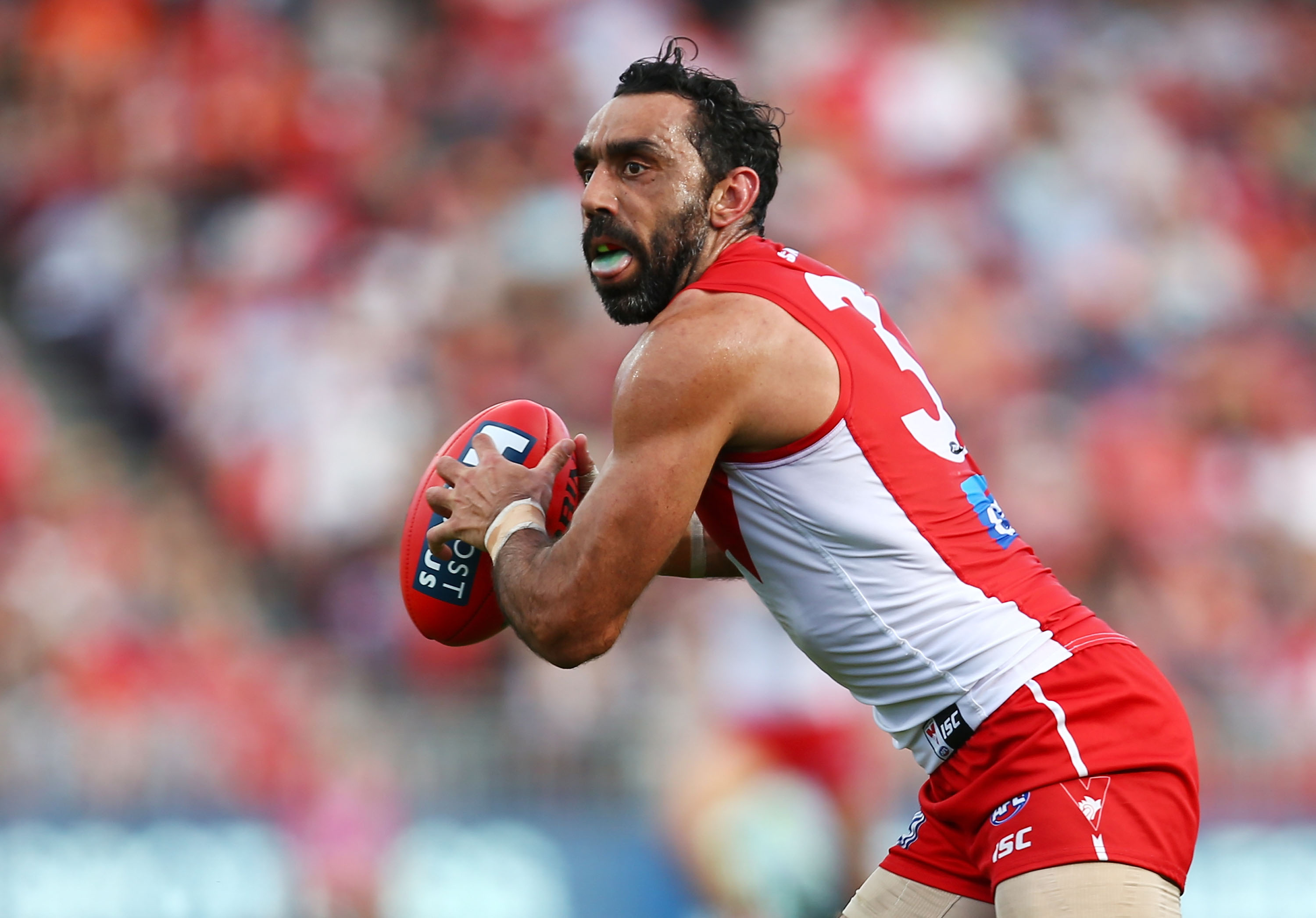 Sydney Swans indigenous AFL star Adam Goodes was subjected to widespread booing from crowds across Australia last year. Photo/Getty