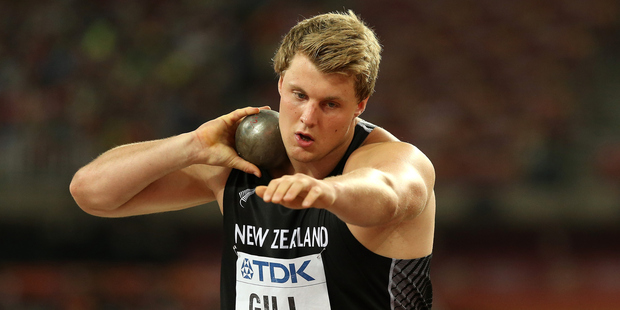 Jacko Gill of New Zealand competes in the Men's Shot Put Final. Photo / Getty Images