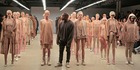 Kanye West poses during the finale of Yeezy Season 2 during New York Fashion Week. Photo / Getty Images