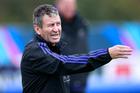 Wayne Smith during an All Blacks training session at London Irish. Photo/Getty