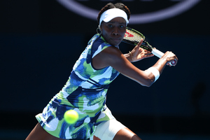 Venus Williams of the United States plays a backhand. Photo / Getty Images