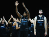Charles Jackson of the Breakers celebrates after winning against Townsville. Photo / Getty Images