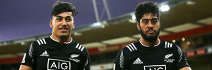 The Ioane brothers with the NZ sevens team. Photo / Getty