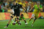 Tim Mikkelson makes a break against Australia. Photo / Getty