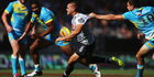 Warriors utility Tuimoala Lolohea looks to break clear in their semifinal against Gold Coast Titans at the NRL Auckland Nines. Photo/Getty