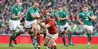 Simon Zebo of Ireland moves away from Jamie Roberts during the Six Nations match between Ireland and Wales. Photo/Getty