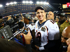 Peyton Manning of the Denver Broncos celebrates after defeating the Carolina Panthers at Super Bowl 50. Photo/Getty