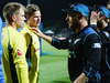 Steve Smith of Australia and David Warner of Australia shake hands with Brendon McCullum of the Black Caps after losing the 3rd One Day International. Photo / Getty Images.
