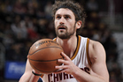 Kevin Love #0 of the Cleveland Cavaliers prepares to shoot a free throw. Photo / Getty Images