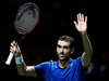 Marin Cilic of Croatia celebrates victory against Gilles Muller of Luxembourg. Photo / Getty Images