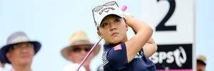 Lydia Ko tees off during the New Zealand Open. Photo / Getty