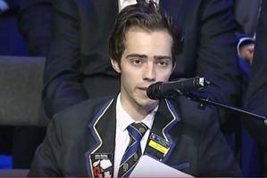 Inspiring head boy to speak out tomorrow