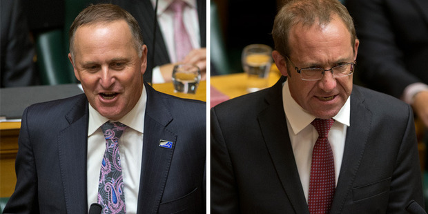 To celebrate the occasion and the rare display of Black Caps sledging Australians, John Key dedicated much of his speech at the start of Parliament to sledging his own opponents. Photos / Getty Images