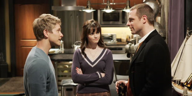 Matt Czuchry, Alexis Bledel and David Sutcliffe star as Logan, Rory and Rory's father Chris in Gilmore Girls.