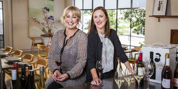 Yvonne Lorkin (left) and Debbie Sutton (right) from WineFriend. Photo / Supplied
