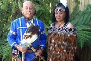 TRADING STORIES: Cherokee elder and Two Feathers chair Mashu White Feather and board director Doreen Bennett are organising a cultural exchange in Whanganui. PHOTO/ SUPPLIED