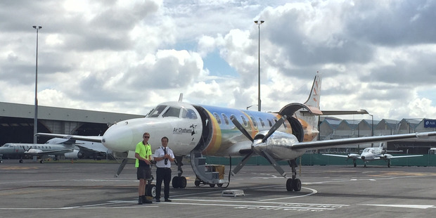 A private Air Chathams' flight from Auckland to Tauranga. Photo / Eli Orzessek