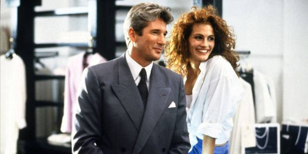 Richard Gere and Julia Roberts star in the movie, Pretty Woman.